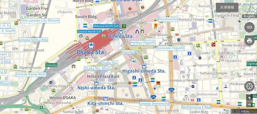 英語地図 大阪