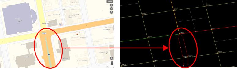 二乗道路の例、北海道_札幌合同第2庁舎付近