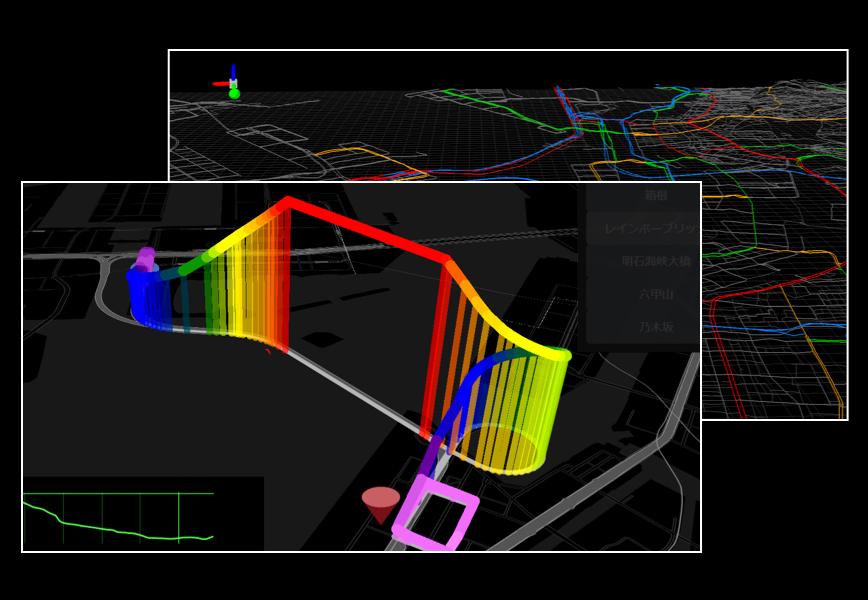 道路標高データとは?カーナビ、カーシミュレーション、3D地図など、さまざまな場面で使われる道路の「高さ」のデータ